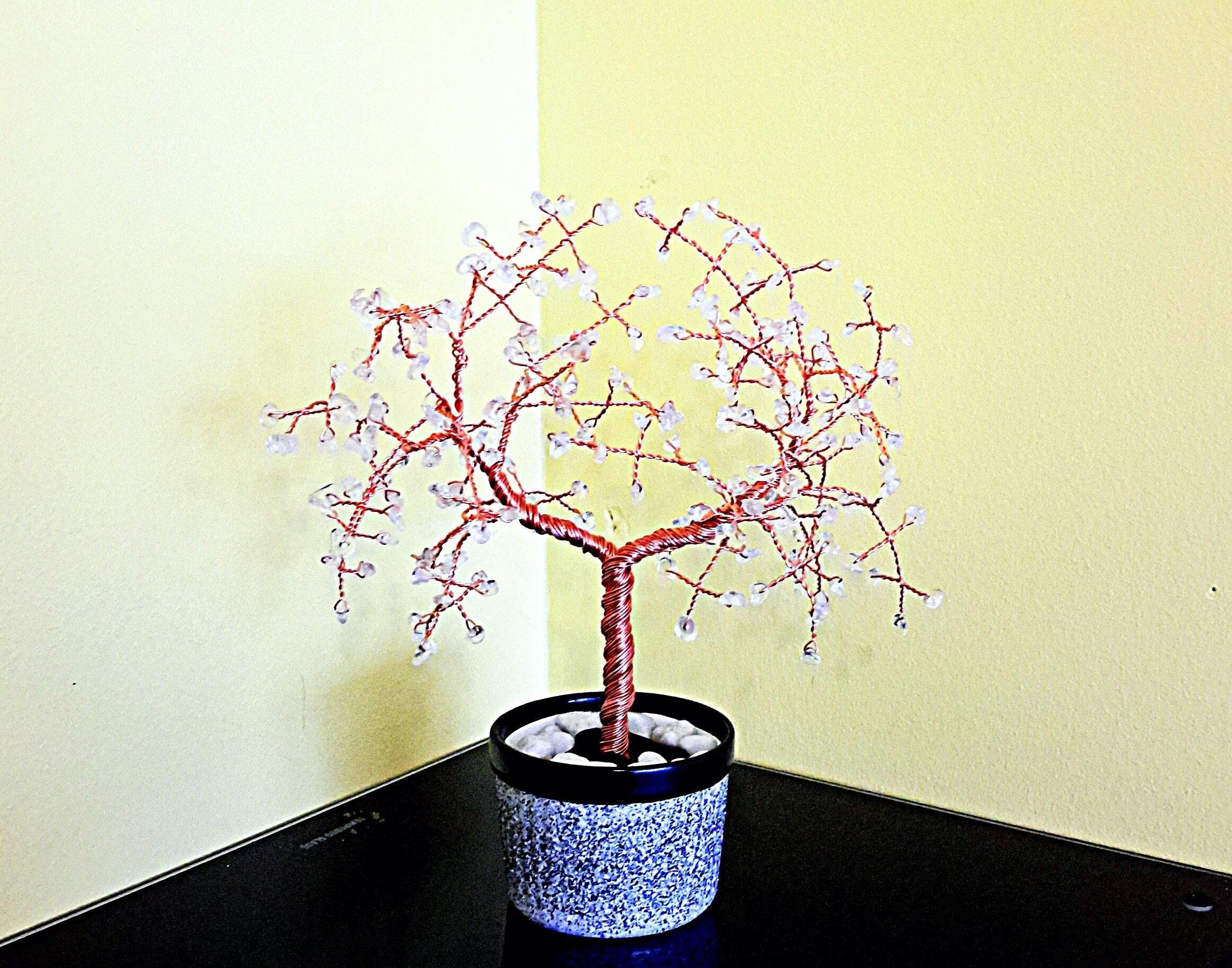 Clear Quartz Gemstone Tree Gem Crystal Feng Shui Wiring Bonsai Seedlings Gallery Photo