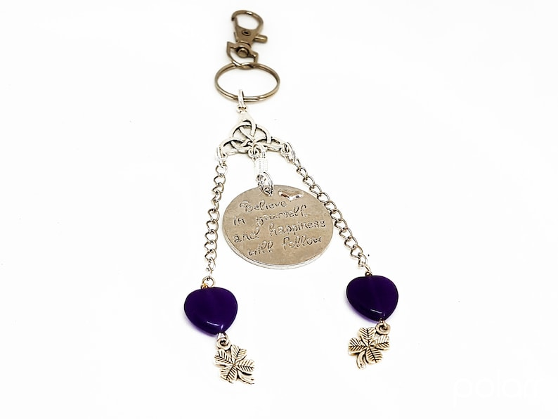 Believe in Yourself Charm Keyring