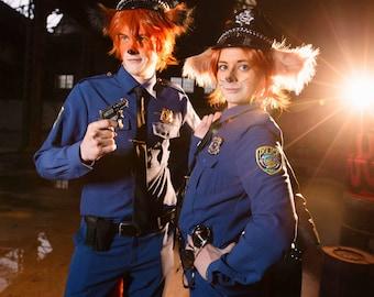 Zoo police uniform Nick Wilde Gazelle Judy Hopps Finnick cartoon cosplay costume