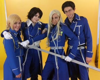 Fullmetal Alchemist anime cosplay uniform costume Roy Mustang Olivia Armstrong Maes Hughes