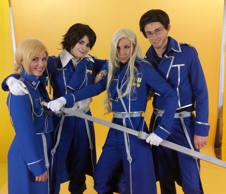 Fullmetal Alchemist anime cosplay uniform costume Roy Mustang image 0
