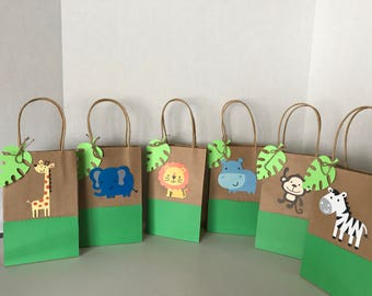 Zoo Animals Favor Bags (Set of 12)