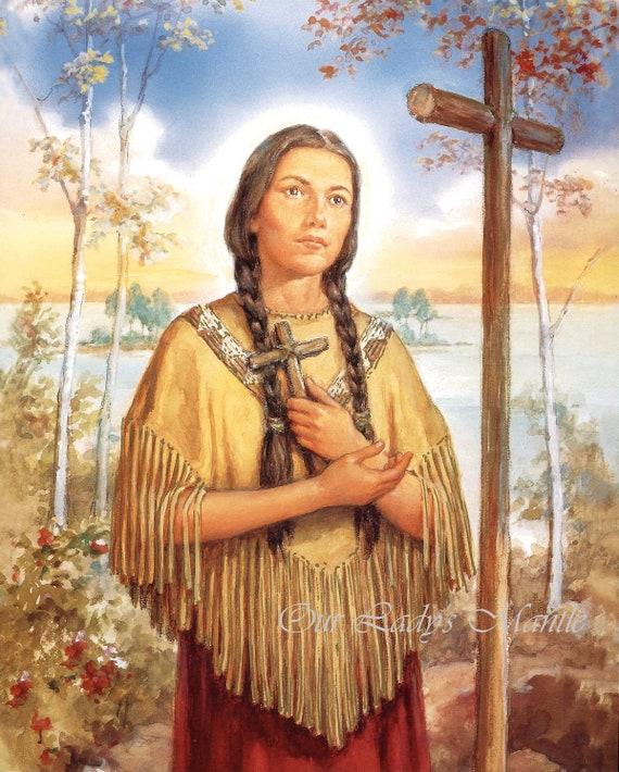 St. Kateri Tekakwitha 8x10 Catholic Picture Print Printed | Etsy