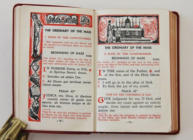 1957 St  Joseph Sunday Missal Latin-English Ordo Missae