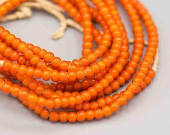 Yellow Whitehearts Venetian Trade Beads New African Art 73781