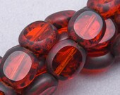 25 Czech Faceted Tab Glass Beads. CZ-412