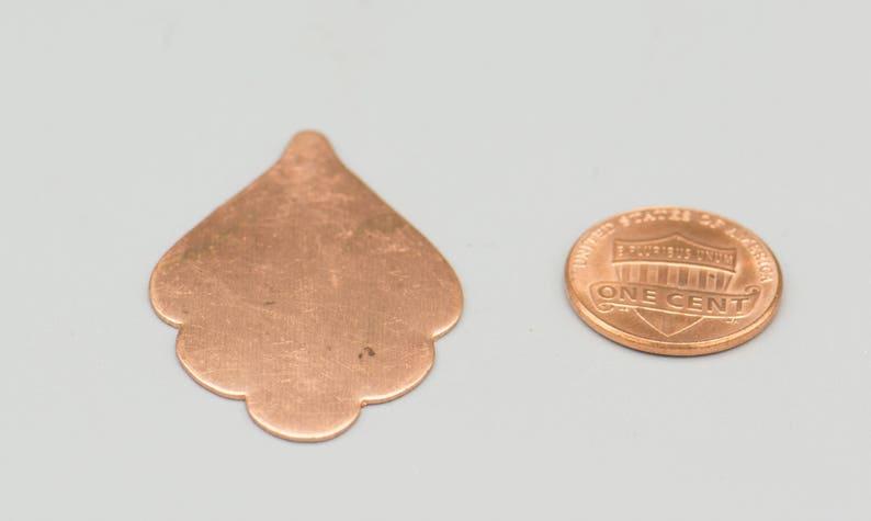40x25mm enamel blank etching blank 22gauge Copper Blanks Scalloped Leaf 1 12 6 stamping blank