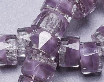 25 Amethyst Purple Czech Glass Beads. CZ-156
