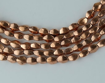 74 Copper Spacer Beads. 9x8x5mm Rustic Beads. SKU-MB-117-C