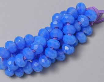 25 Czech Faceted Roller Beads. 8x12mm Big Hole Beads. CZ-131