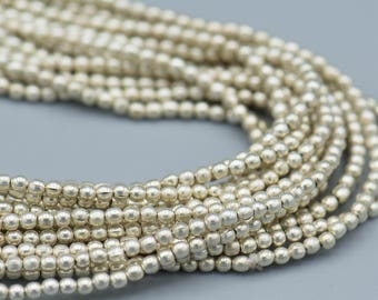 290 Silver 2mm Beads - Plated Brass Round Beads SKU-MB-14-S