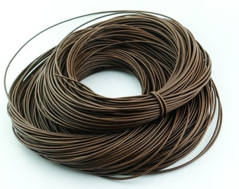 3 Yards Greek Brown Leather Cord. 2mm Wrap bracelet leather cord. Cord-10