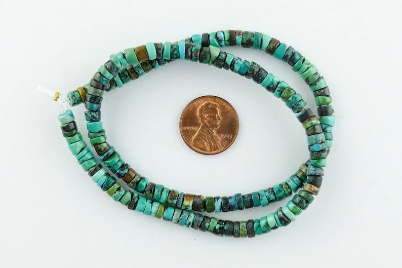 Natural Turquoise Heishi Beads Gemstone Turquoise Disc Beads SKU-GM-