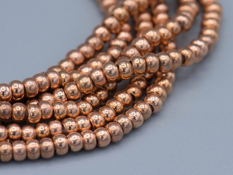 300 Copper Heishi Spacer Beads.3x2mm Jewelry Making Supplies SKU-MB-32-C