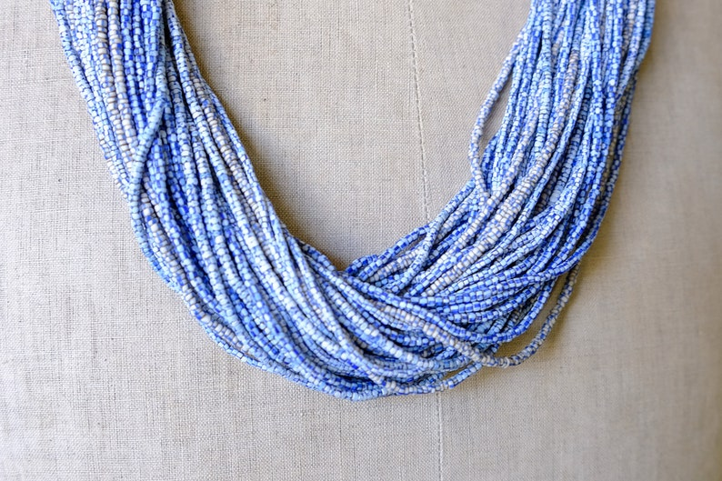 50 Strands Fulani Waist Beads TB-1073 Old African Fulani Seed Beads