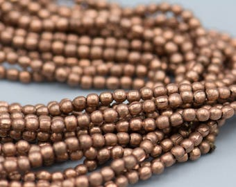 290 Copper 2mm Beads - Plated Brass Round  Beads SKU-MB-14-AC