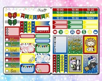 Luna Wizard - B6 Size Traveler's Notebook Stickers - Planner Stickers Erin Condren Life Planner ECLP Magic Doodle Happy Planner