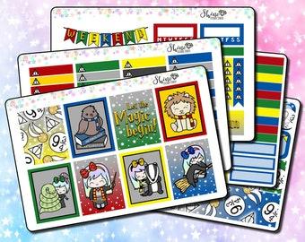 Luna Wizard - Vertical Planner Stickers Erin Condren Life Planner ECLP Magic Stickers Girl Stickers Doodle Sticker Kit