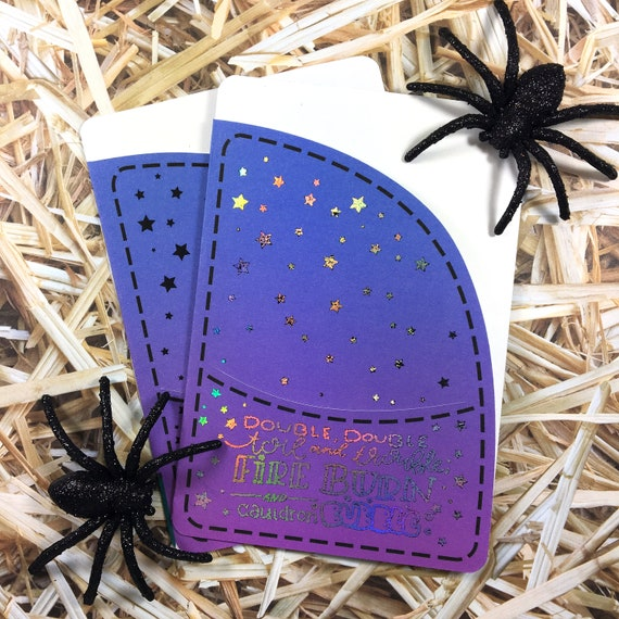 Oops Luna Halloween Pocket Folder - Traveler's Notebook Erin Condren Happy Planner Witch Pocket