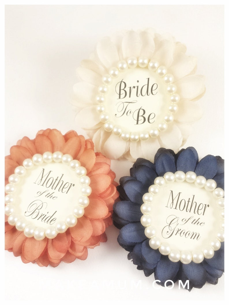 fe1b2930bc77 3 CREAM CORAL NAVY Bridal Shower Corsages Bridal shower