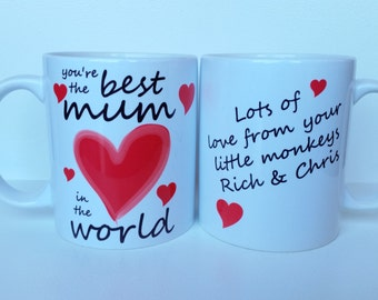 Personalised Mothers Day - 'Best Mum in the World' Personalised Mothers Day Mug Design