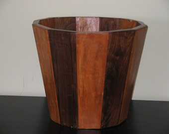 Solid Wood Two Tone Wine Buckets