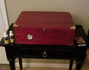 Solid Purple Heart Lumber Humidor