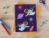 Black Astronauts Notebook; Little Children's Explore Space Journal; Children's Journal; African American Children's Wide Ruled Notebook