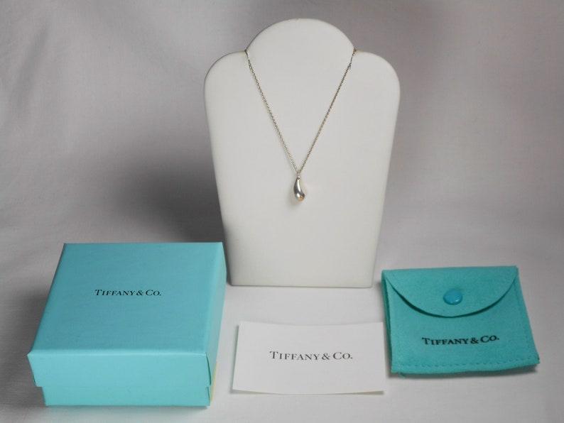 2507d874f Tiffany & Co. Elsa Peretti Teardrop Necklace Sterling Silver | Etsy