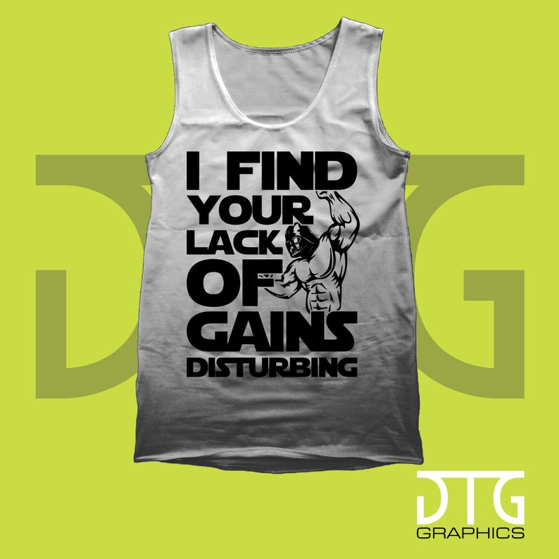 439d0e9d I Find Your Lack of Gains Disturbing Weightlifting Gym Tank   Etsy