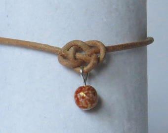 E-1842 Leather cord knot bracelet