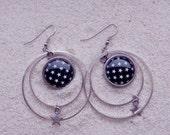 """Earrings """" Mathilde """" - Black star"""