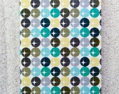 "Printed double postcard and matched white envelope- Design  "" khaki dots"""