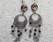 Sleeper earrings, long bo...