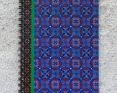 """Printed pad, large size with spirals, united white sheets -Design """"blue Africa wax"""""""