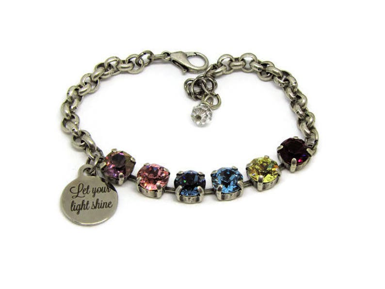 24f9d5987 Swarovski Crystal Bracelet Multicolored Bracelet crystal | Etsy