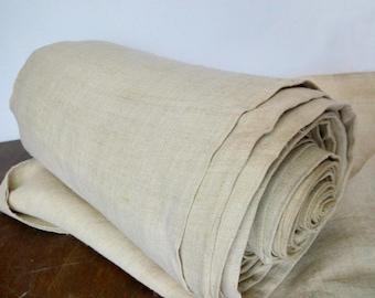 Antique hemp fabric Homespun cloth Grain sack fabric Thin linen Organic handwoven canvas Primitive ethnic fabric Off white Old hemp material