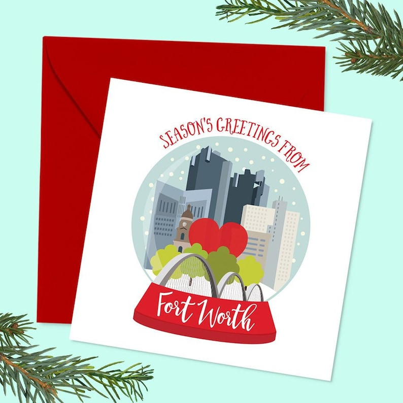 Texas Christmas Cards.Fort Worth Dallas Texas Christmas Cards