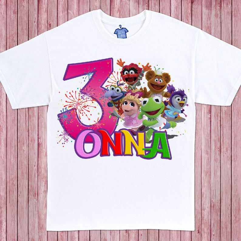 a4c20dfd0 Muppet Babies Birthday T-Shirt White | Etsy