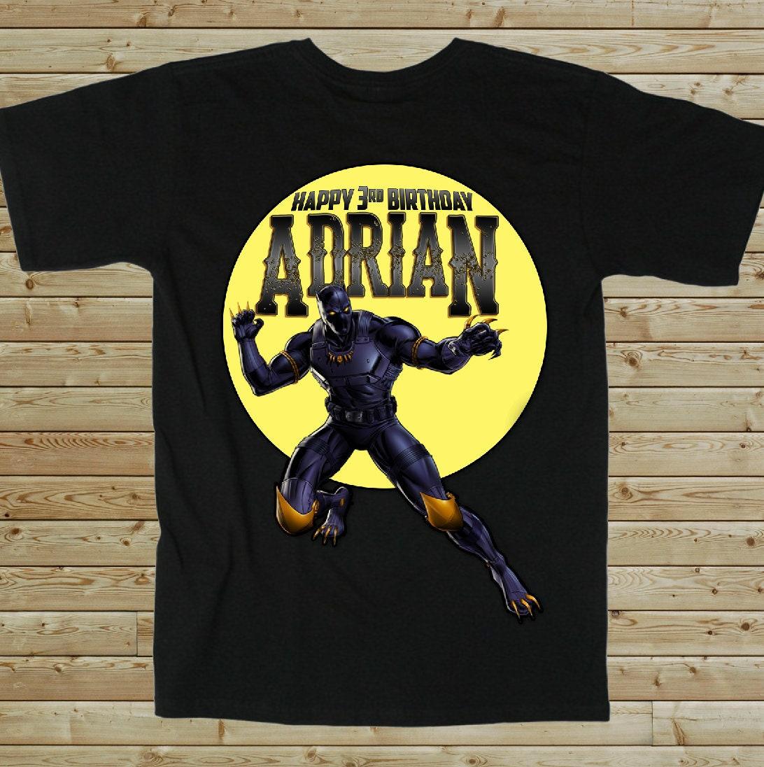Black Panther Custom Birthday T Shirt