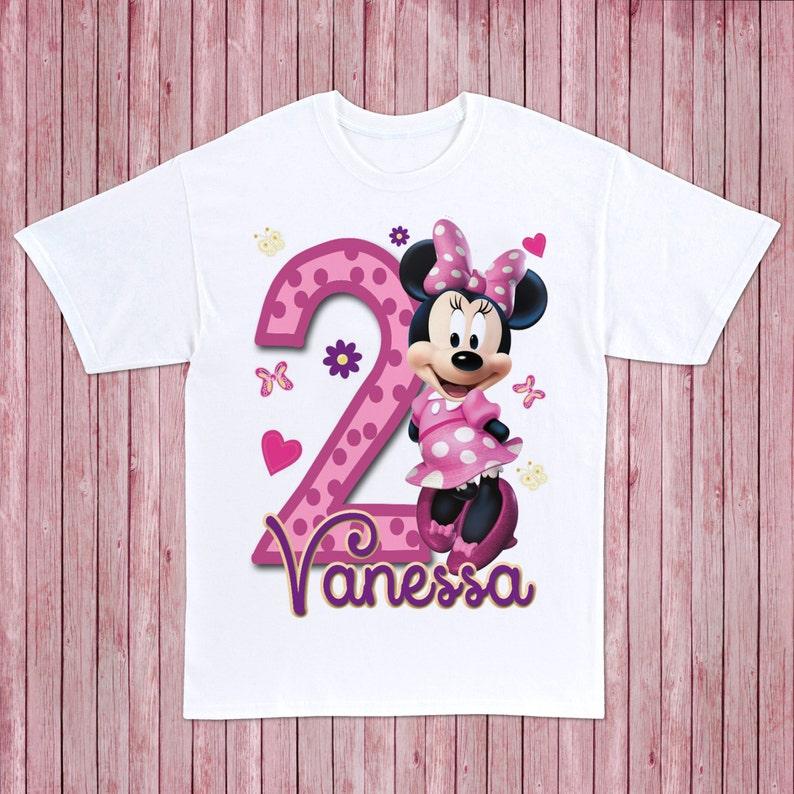Playera de Minnie Mouse Personalizada  ee1f00d2264f8