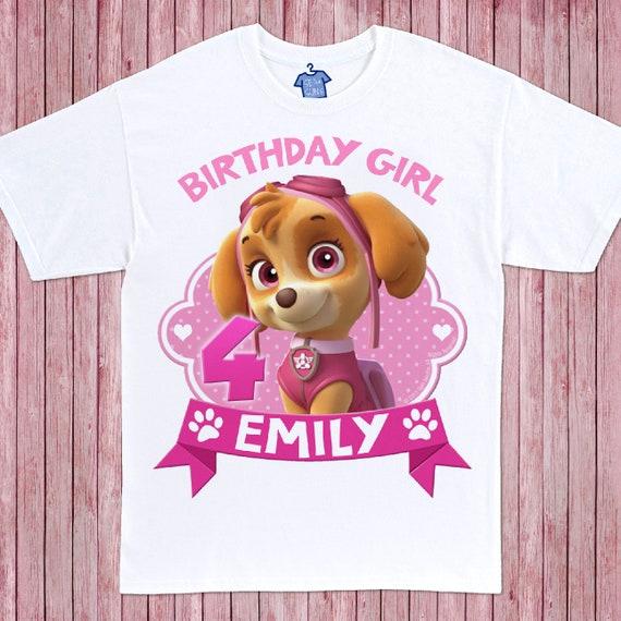 Skye Birthday Shirt Paw Patrol