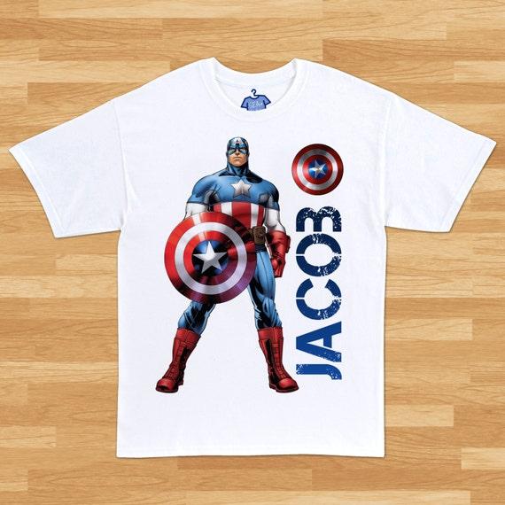 Playera de Captain America Personalizada  44c26edf3f58c