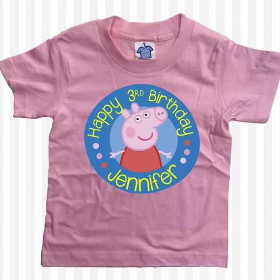 Peppa Pig T Shirt Anniversaire Personnalisee Filles Etsy