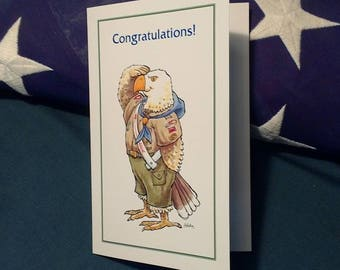Eagle Scout Salute Congratulations Greeting Card