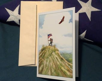 Eagle Scout on Hilltop Congratulations Greeting Card