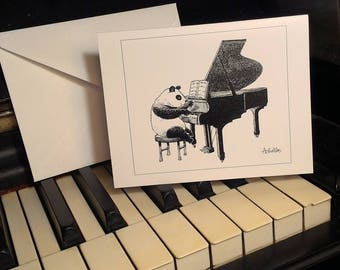 Piano Panda Notecards