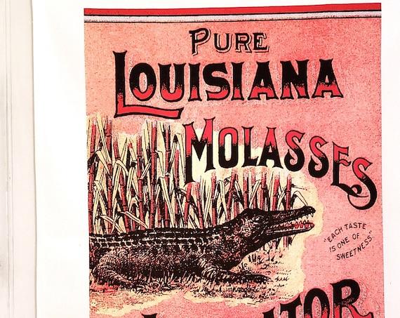 LOUISIANA SWAMP SPECIAL Kitchen Towel Vintage Look