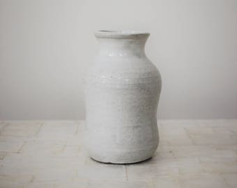 "White bottle vase | 5"" wheelthrown stoneware vase"
