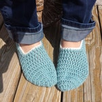 Blueberry Slipper Socks, Handmade, Crochet, Cozy Feet! Women's Slippers, Crochet Slippers, Socks, Blue Shoes, Women's Slippers